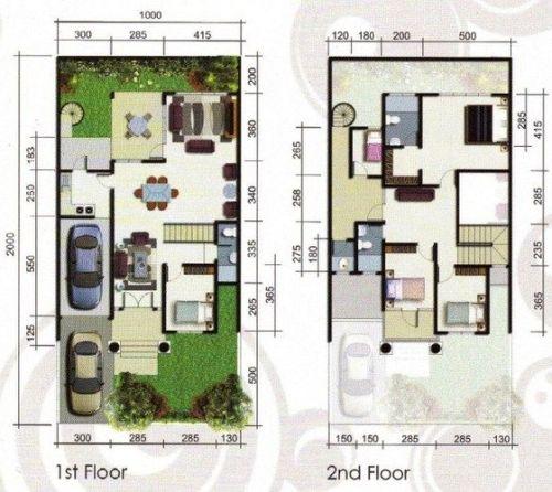 rumah minimalis desain 2 lantai yang segar