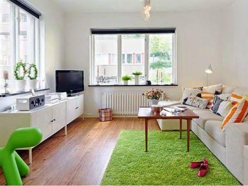 Desain rumah minimalis, Interior Lega dengan Warna Cerah