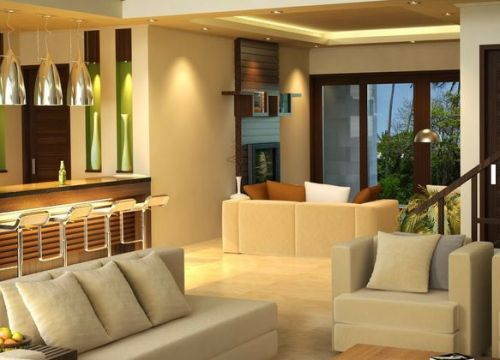Interior rumah minimalis 1 lantai, multi-fungsi di satu ruangan