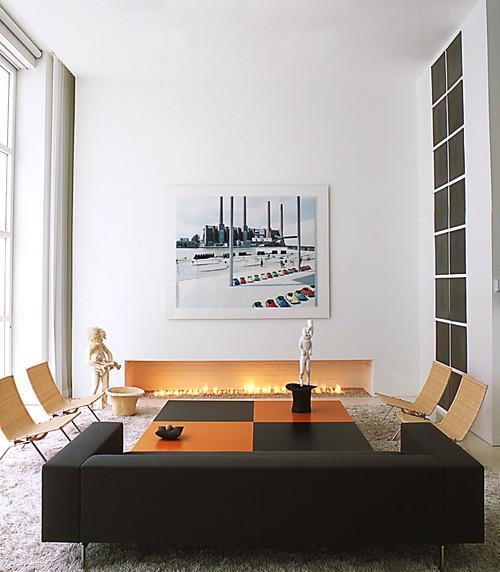 Interior rumah minimalis meminimalisir penggunaan ornamen dan menggunakan bentuk geometri yang tegas