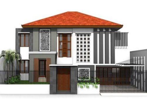 Pagar rumah minimalis vertikal berbahan baja atau besi anti-karat