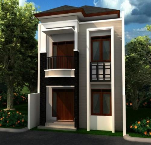 Rumah minimalis 2 lantai type 36 di lahan terbatas