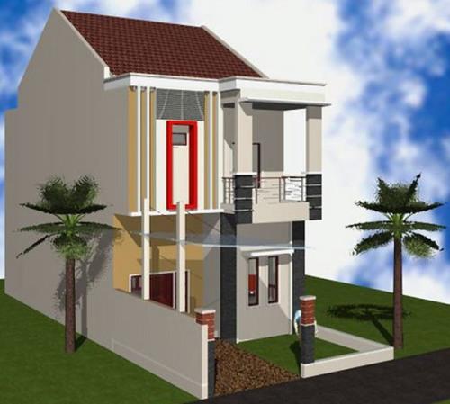 Rumah minimalis type 36 2 lantai dapat menghemat lahan