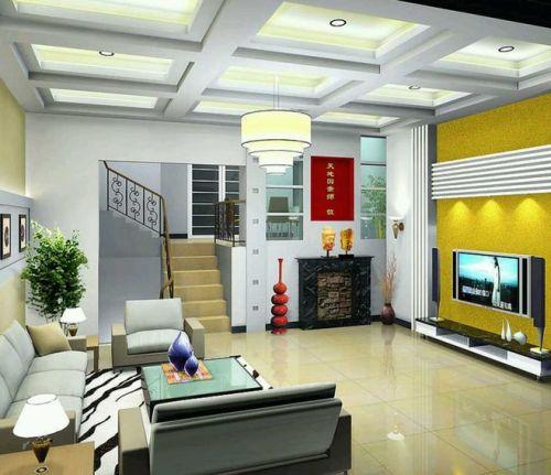 Warna terang dapat diaplikasikan sebagai focal point di interior