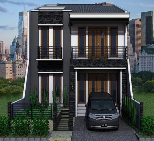 desain rumah minimalis 2 lantai tipe 45