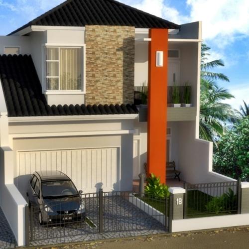 Contoh Desain rumah minimalis 2 lantai type 90