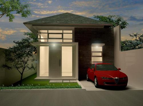 Contoh desain rumah minimalis modern type 36 1 lantai