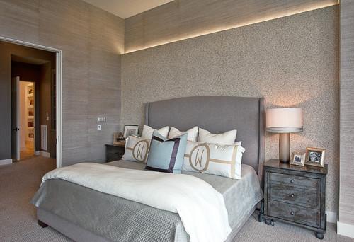Kamar tidur dengan nuansa mewah dan modern