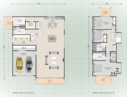 Sketsa rumah minimalis 2 lantai