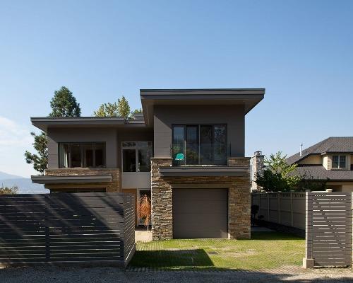 Bentuk rumah minimalis 2 lantai dengan tema farmhouse