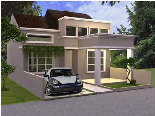 rumah minimalis atap miring tipe 30 60 desain rumah
