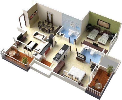 Contoh denah Rumah sederhana dengan inner court