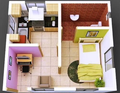 Contoh denah rumah 3D dengan aplikasi komputer