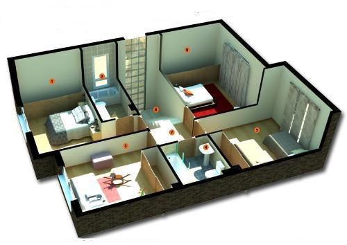 Contoh denah rumah minimalis 1 lantai 3 kamar tidur