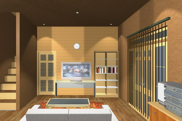 Contoh desain interior rumah type 70 yang menawan