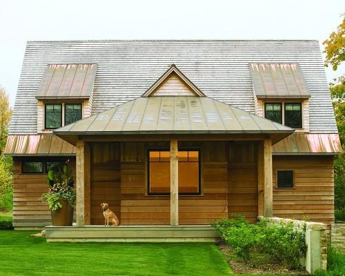 Contoh rumah kayu murah bernuansa country