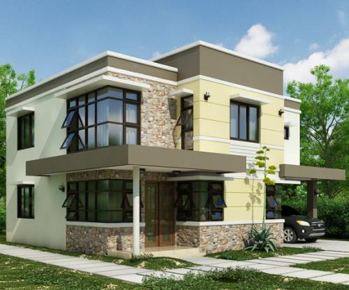 Contoh rumah minimalis 2 lantai ramah lingkungan