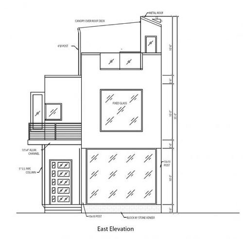 Contoh sketsa awal denah rumah minimalis