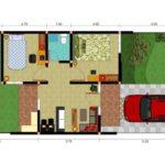 Sketsa Rumah Minimalis 1 Lantai  Di Lahan Kecil
