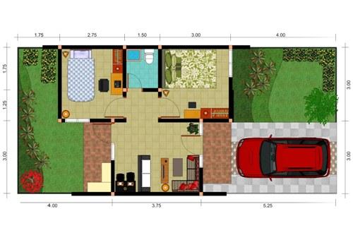 Contoh sketsa rumah minimalis 1 lantai