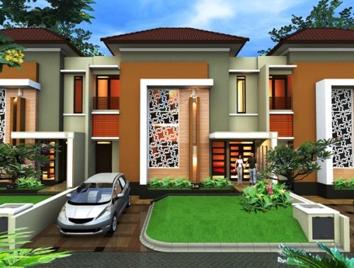 Denah Rumah Minimalis 2 Lantai mewah dan modern
