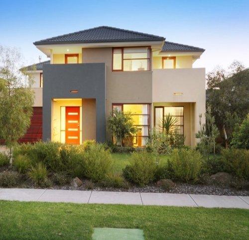 Desain eksterior rumah minimalis type 120