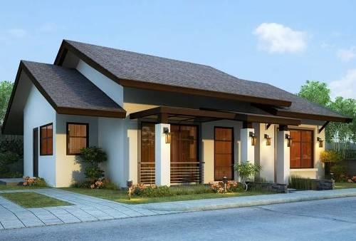 Desain rumah minimalis 1 lantai untuk lahan memanjang