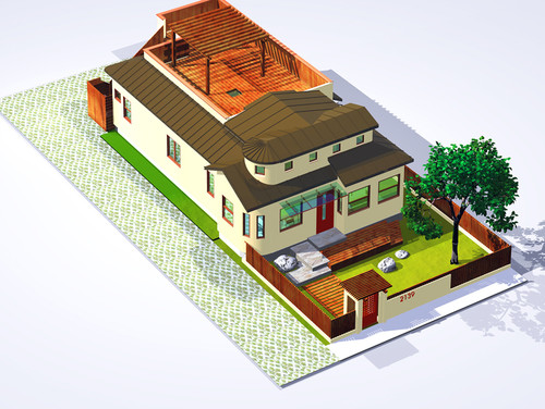 Gambar Desain Rumah Minimalis Unik Model Kapal Tampak Atas
