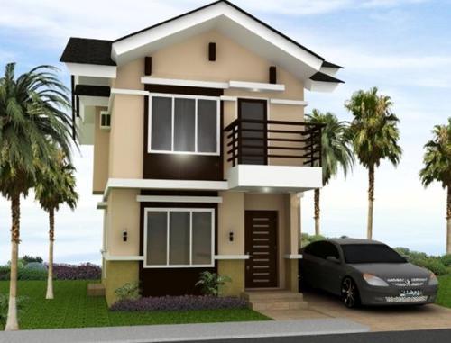Gambar denah rumah 2 lantai tropis ala Philipina