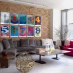 Gambar Ruang Tamu Minimalis Dengan Gaya Pop Art