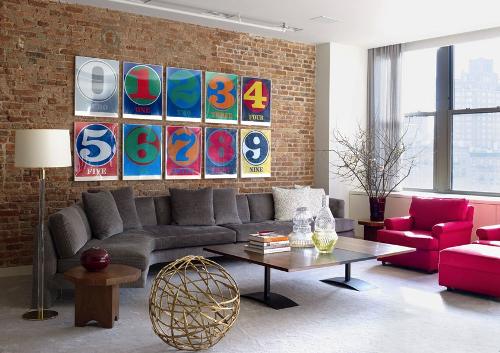 Gambar ruang tamu minimalis Gaya Pop Art
