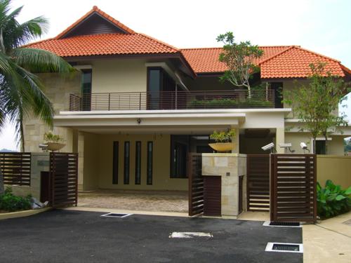 Gambar rumah minimalis modern 2 lantai dengan nuansa tropis