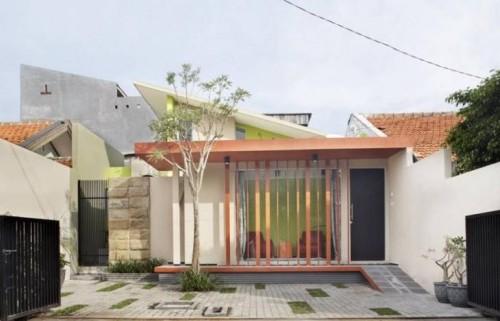 Gambar rumah minimalis tropis 1 lantai dengan atap sandar