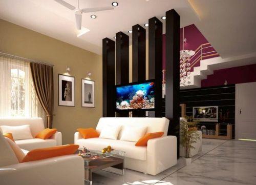 Interior rumah minimalis tanpa sekat permanen
