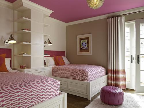 Kamar tidur minimalis anak perempuan untuk berdua