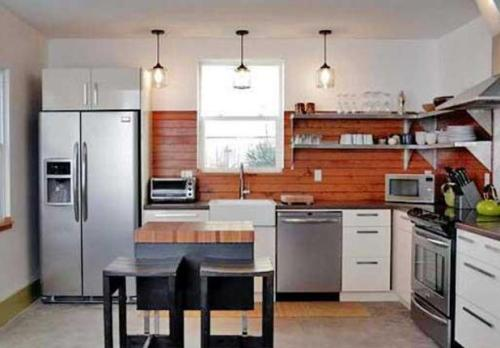 Model Dapur Rumah Minimalis Dengan Rak Gantung