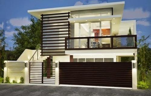 Model rumah minimalis 2 lantai kontemporer