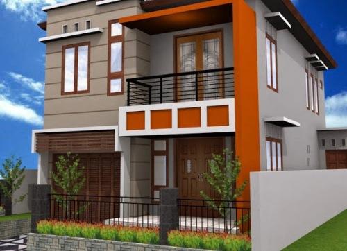 Rumah Minimalis Lantai 2 Tampak Kokoh dengan Elemen Geometris