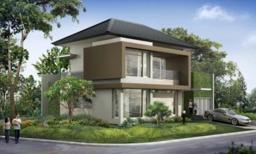 Rumah Sudut Minimalis Bernuansa modern
