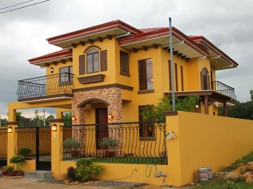 Rumah mewah 2 lantai bergaya campuran Mediterrania dan Modern