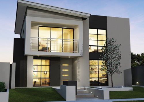 Rumah minimalis 2 lantai type 90 bergaya modern