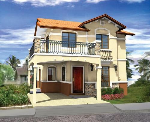 Rumah minimalist type 60 2 lantai dengan balkon