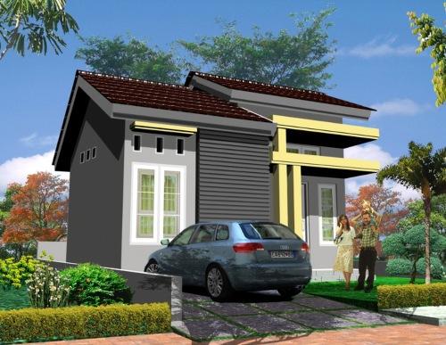 Rumah tropis minimalis type 36