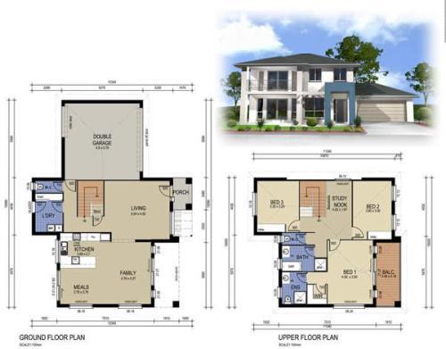 cara membuat denah rumah 2 lantai