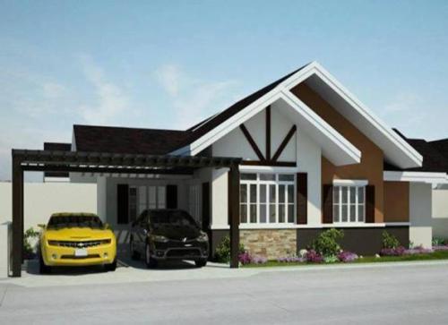 desain rumah modern minimalis 1 lantai cantik dengan warna netral