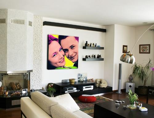 gambar ruang tamu minimalis sederhana dengan gaya pop art