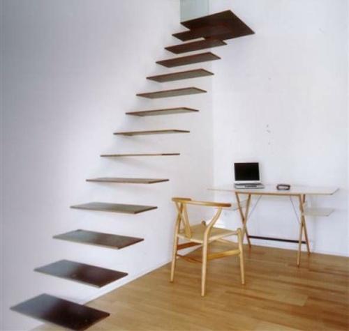model tangga rumah minimalis melayang