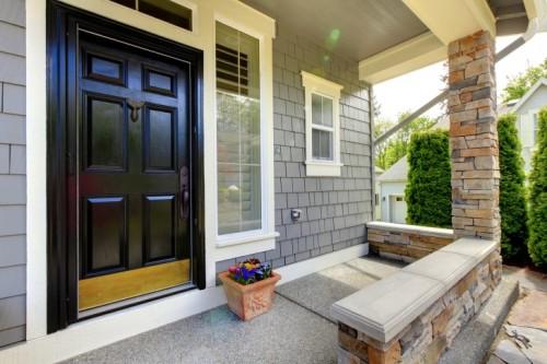 model teras rumah minimalis asri dengan batu alam