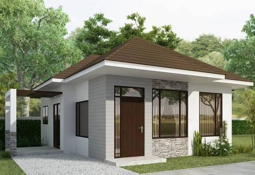 rumah cantik minimalis 1 lantai