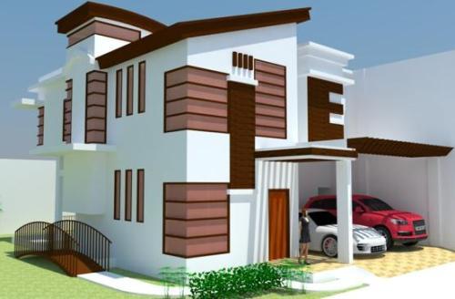 Atap Rumah Minimalis Kontemporer paduan model datar dan sandar